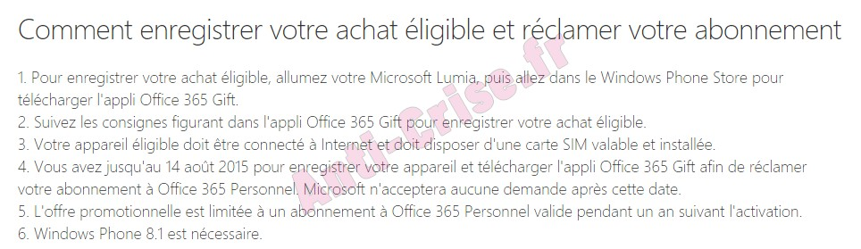 bon plan microsoft lumia 640 abonnement d un an gratuit office 365 personnel. Black Bedroom Furniture Sets. Home Design Ideas
