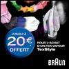 Offre de Remboursement (ODR) Braun : 20 € sur Fer Vapeur TexStyle - anti-crise.fr