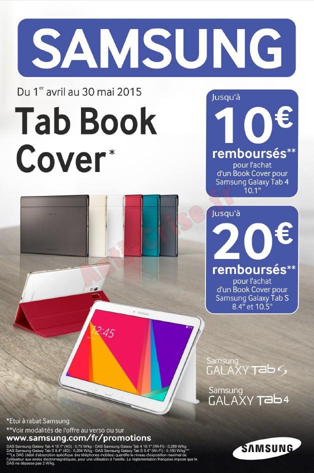 offre de remboursement odr samsung 20 sur tab book cover pour tablette galaxy. Black Bedroom Furniture Sets. Home Design Ideas