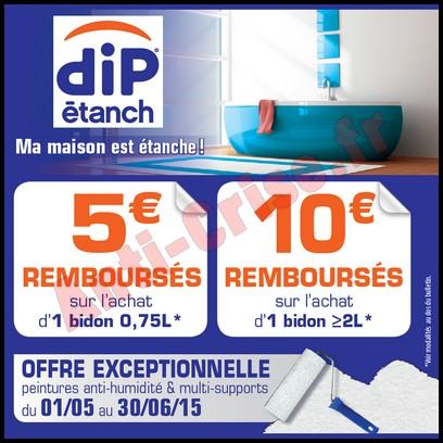 Offre De Remboursement Dip Etanch : 10 € Sur Peintures Anti