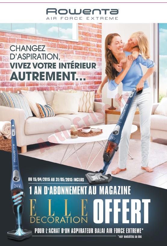 bon plan rowenta 1 aspirateur air force extr me achet 1 an d abonnement elle d coration. Black Bedroom Furniture Sets. Home Design Ideas