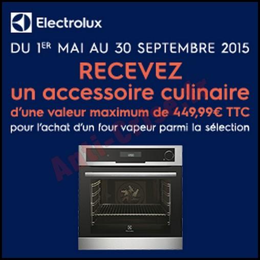 Bon plan electrolux un accessoire culinaire offert pour for Accessoire culinaire