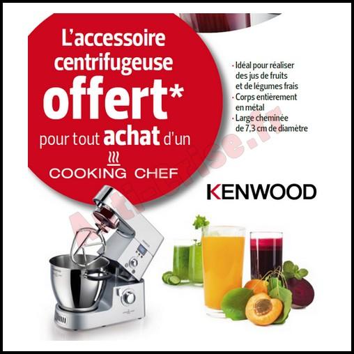 Bon plan kenwood un accessoire centrifugeuse offert pour for Kenwood cooking chef accessoire