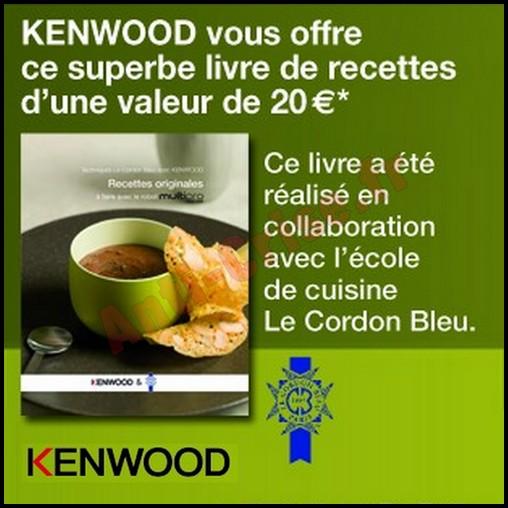 Bon plan kenwood un livre de recettes offert pour tout achat d un robot multipro sense fpm810 - Livre recette robot multifonction ...