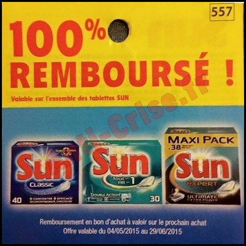 offre de remboursement odr sun pack de tablettes 100 rembours en 1 bon. Black Bedroom Furniture Sets. Home Design Ideas