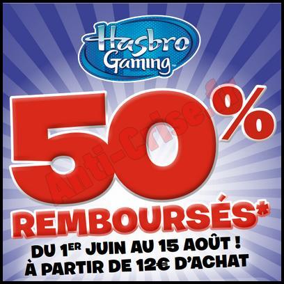 Offre de Remboursement Hasbro : 50 % Remboursés sur les jeux de Société - anti-crise.fr