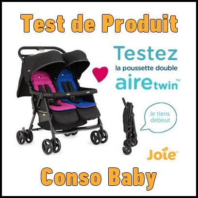 test de produit conso baby poussette double aire twin joie. Black Bedroom Furniture Sets. Home Design Ideas
