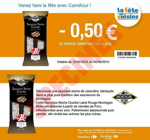 Ch quier de r ductions carrefour et carrefour market - Bon de reduction atylia ...