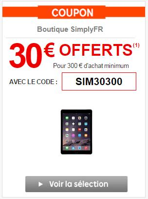 code promo priceminister 30 d s 300 sur la boutique simplyfr. Black Bedroom Furniture Sets. Home Design Ideas