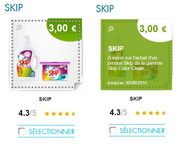BON DE REDUCTION LESSIVE SKIP