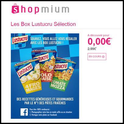 Offre de Remboursement Shopmium : Box Lustucru Sélection 100 % Remboursée - anti-crise.fr