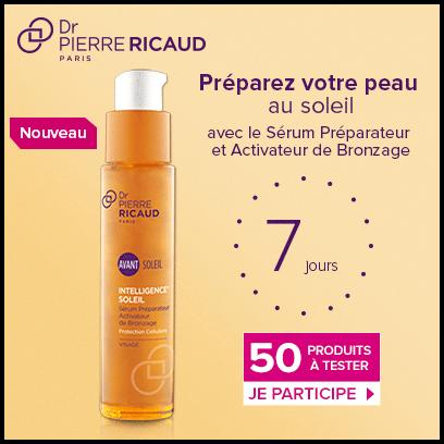 Test de Produit Beauté Test : Sérum Préparateur et Activateur de Bronzage - Intelligence Soleil de Dr Pierre Ricaud - anti-crise.fr