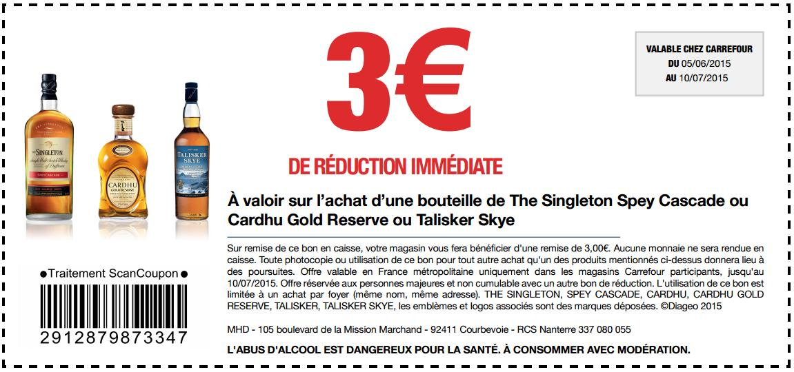 Bon de r duction de 3 sur le whisky chez carrefour - Bon de reduction atylia ...