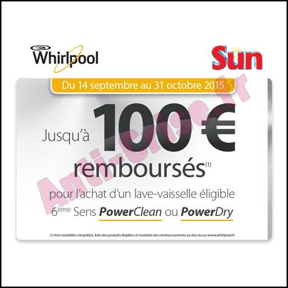 offre de remboursement whirlpool 100 sur lave. Black Bedroom Furniture Sets. Home Design Ideas