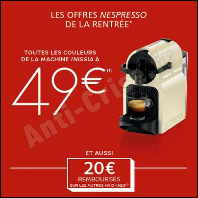 machine a cafe nespresso offre. Black Bedroom Furniture Sets. Home Design Ideas