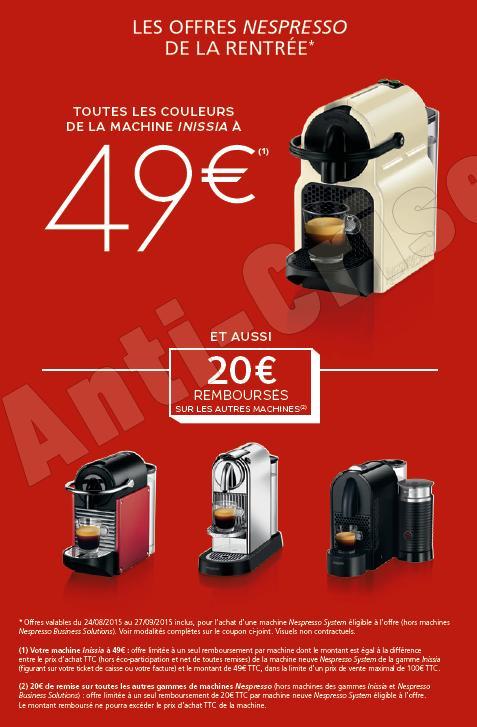 Nespresso : offres de remboursement pour la Fte des