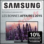 Offre de Remboursement Samsung : 10 % sur les TV - anti-crise.fr