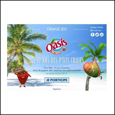 Instant gagnant Oasis : voyage à l'Ile Maurice à gagner !  anti-crise.fr