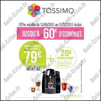 Offre de Remboursement Tassimo : Machine à Café Joy à 79 € - anti-crise.fr