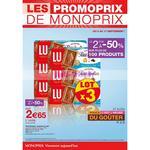 Catalogue Monoprix du 9 au 17 septembre