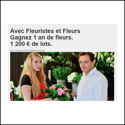Tirage au sort fleuristes et fleurs 1 an de fleurs for Fleuristes et fleurs