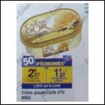 Crème Glacée Carte D'or en Bac à 0,08 € chez Carrefour - anti-crise.fr