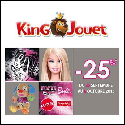King jouet 25 sur barbie monster high et fisher price catalogues promos bons plans - Monster high king jouet ...