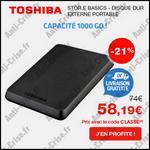 Bon Plan Toshiba : Disque dur externe portable à 58,19 € - anti-crise.fr