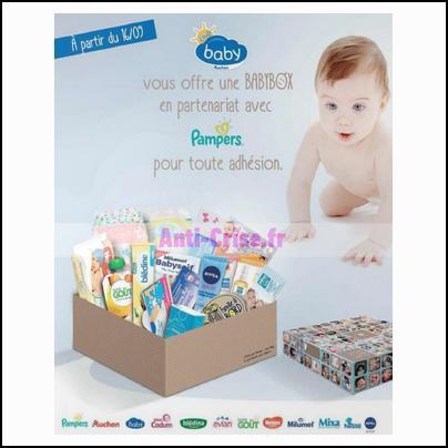 bon plan club baby auchan baby box pampers offerte pour les nouveaux. Black Bedroom Furniture Sets. Home Design Ideas