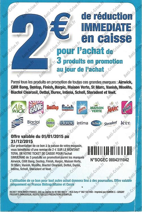 Anti crise bon plan tablettes finish 70 chez auchan - Bon de reduction atylia ...