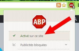 Comment désactiver Adblock
