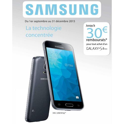 offre de remboursement samsung 30 sur galaxy s5 mini. Black Bedroom Furniture Sets. Home Design Ideas