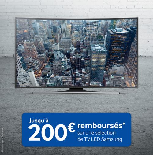 offre de remboursement samsung 200 sur tv led. Black Bedroom Furniture Sets. Home Design Ideas