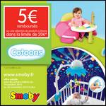 Offre de Remboursement Smoby : 5 € Remboursés sur Cotoons - anti-crise.fr