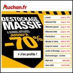 Destockage Massif sur Auchan.fr : Jusqu'à 70 % - anti-crise.fr