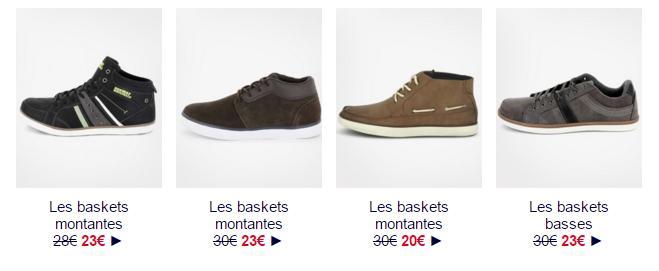 Simili Homme Kiabi chaussures Chaussure Baskets En Basses wOkn80P