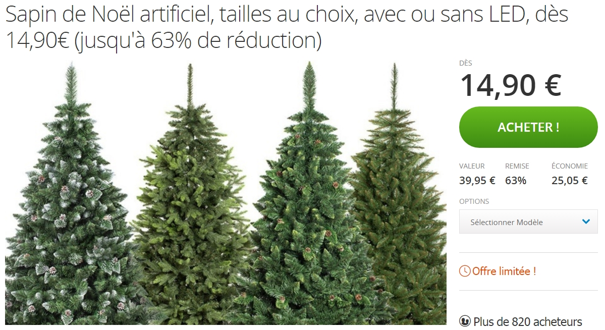 deal groupon sur les sapins de no l artificiels jusqu 63 de r duction. Black Bedroom Furniture Sets. Home Design Ideas
