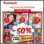 Bon Plan Auchan : - 50 % sur les Abonnements Magazines - anti-crise.fr