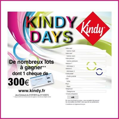 Tirage au sort Kindy : Bon d'achat à gagner ! anti-crise.fr