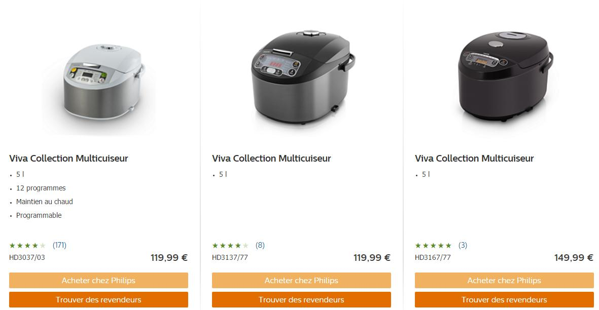 Offre de Remboursement Philips : 20 € sur un Multicuiseur + 2 ...
