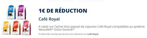 bon plan caf royal capsules pour dolce gusto gratuites chez g ant casino. Black Bedroom Furniture Sets. Home Design Ideas