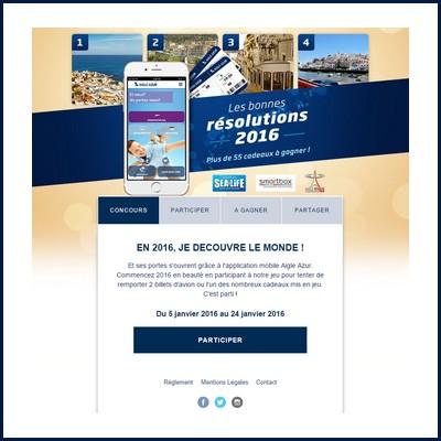Tirage au sort Facebook Aigle d'azur : Voyage à gagner ! anti-crise.fr