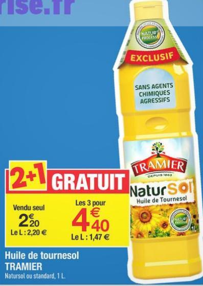 Bon Plan Tramier : Huile de Tournesol à 0,83 € chez Carrefour - anti-crise.fr