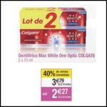 Bon Plan Colgate : Lot de 2 Dentifrices Max White à 0,27€ chez Cora - anti-crise.fr