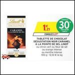 Bon Plan Lindt : Tablette de Chocolat Noir Caramel à 0,54 € chez Intermarché - anti-crise.fr