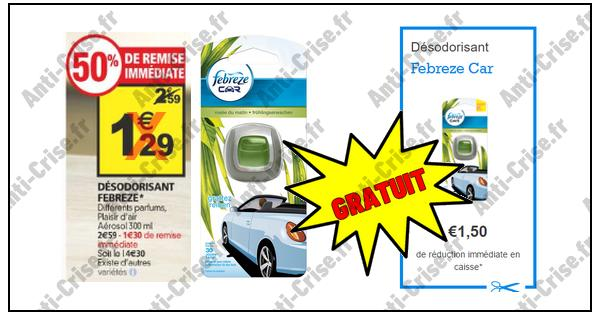 Bon plan f br ze d sodorisant voiture gratuit chez auchan - Bon reduction febreze ...