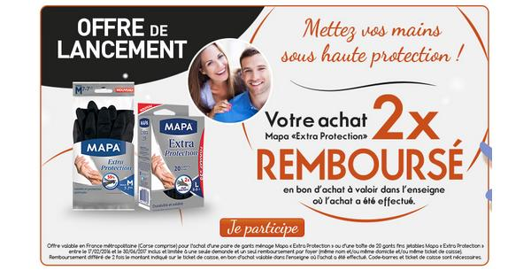offre de remboursement mapa vos gants extra protection 200 rembours s en 1 bon catalogues. Black Bedroom Furniture Sets. Home Design Ideas