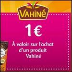 Bon de Réduction Vahiné : Bon de Bienvenue de 1 € sur toute la Gamme - anti-crise.fr