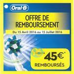 Offre de Remboursement Braun : Jusqu'à 45€ sur Brosse à Dents Electrique OralB - anti-crise.fr