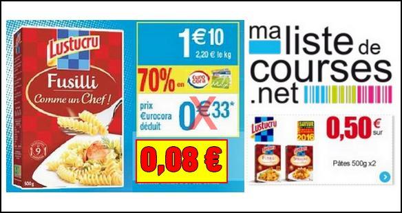 Bon Plan Lustucru : Les 2 Boîtes de la Gamme Comme un Chef à 0,16€ chez Cora - anti-crise.fr